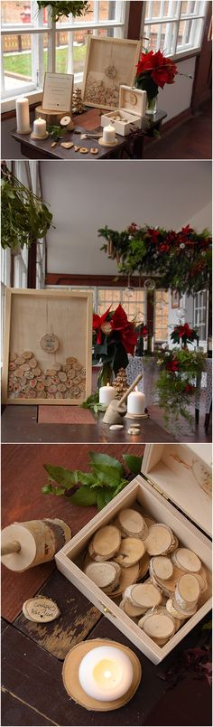Rustic country wood wedding guest books @4LOVEPolkaDots