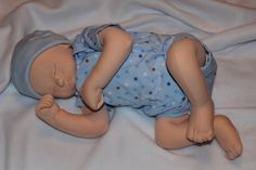 Realistic newborn cloth doll  cotton peach
