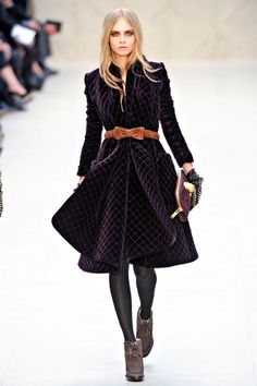 Burberry velvet coat -- for my own fairy tale