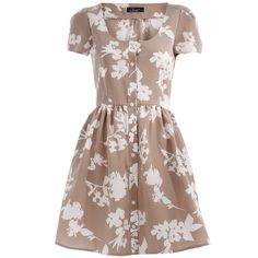 Stone floral button dress (3100 RSD) ❤ liked on Polyvore featuring dresses, vestidos, floral, flower print dress, short sleeve floral dress, short-sleeve dresses, floral day dress and flower printed dress