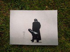 Johnny Cash - Stencil ( mini ) - Graffiti