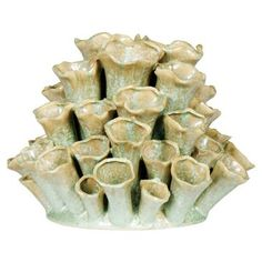 "Check out this item at One Kings Lane! 10"" Cluster Bud Vase, Celadon"