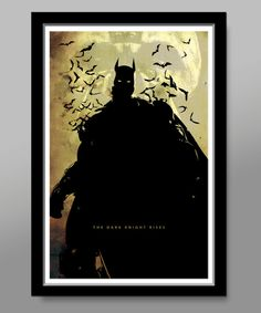 Batman Minimalist Movie Poster - Dark Knight - 13 X 19 Home Decor