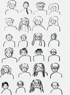 Drawing various person #drawing #drawwithlines #lineart #artwork #people