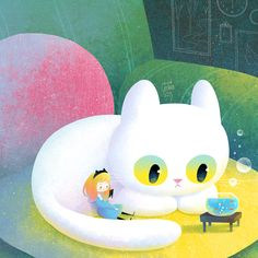 Cat Fantasy on Behance Cute Animal Illustration, Book Illustration, Cat Character, Character Design, Storyboard, Kids Zoo, Cute Chibi, Cute Bears, Pretty Art