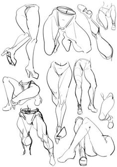 Learn To Draw People - The Female Body - Drawing On Demand Body Drawing, Anatomy Drawing, Life Drawing, Drawing Sketches, Art Drawings, Drawing Legs, Figure Drawings, Figure Drawing Reference, Anatomy Reference