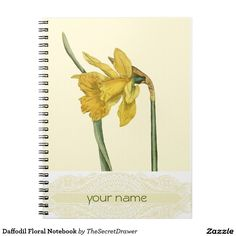 Daffodil Floral Notebook