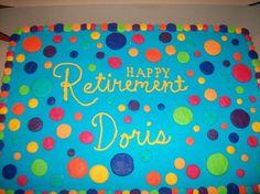 M2M Polka Dot Retirement Cake