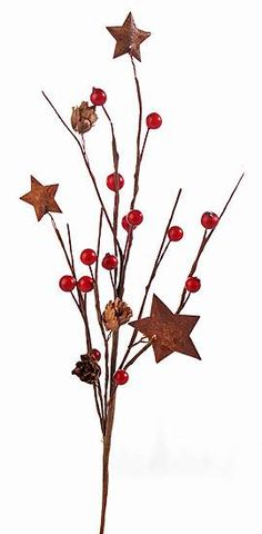 Primitive Berry and Rusty Stars Pick