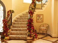 ideas para decorar escaleras flores