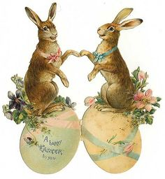 Easter vintage painting lovely.