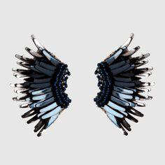 Mini Madeline Earrings Metallic Navy/Gunmetal at Mignonne Gavigan