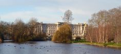 Buckingham Palace from the bridge in St. James Park