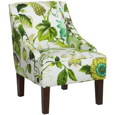 Skyline Furniture Swoop Arm Chair in Grandiflora Jardin | Overstock.com Shopping - The Best Deals on Living Room Chairs