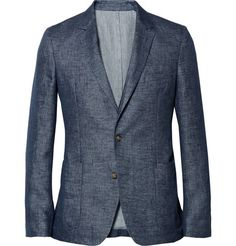 Ami Unstructured Linen Blazer | MR PORTER