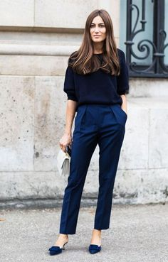 46 Stylish Navy Pants Work Outfit to Try – Women Fashion Cute Work Outfits, Fall Outfits For Work, Casual Outfits, Casual Shoes, Office Outfits, Dress Casual, Office Wear, Spring Outfits, Outfit Work