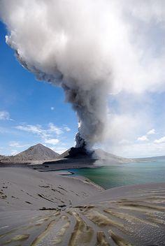 Eruption Tavurvur Volcano, Rabaul, Papua New Guinea.