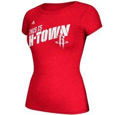 36573b77418 adidas Houston Rockets Ladies This Is H-Town Slogan T-Shirt - Red Houston