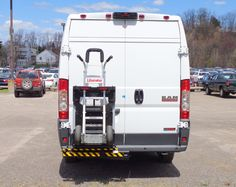 B&P Manufacturing's B&P Liberator commercial aluminum hand truck locked safely aboard parcel delivery van with HTS Systems' patented Ultra-Rack hand cart carrier unit. HTS Systems' commercial delivery equipment is a safe fleet solution. Hand Cart, Parcel Delivery, Trailer Hitch Receiver, Truck Transport, Van Interior, Cargo Van, Ford Transit, Truck Accessories