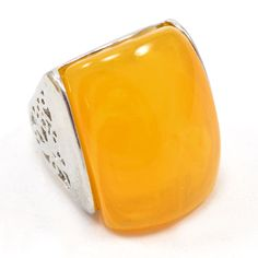 Yellow Banded Agate 925 Silver Overlay Ring Gemstone Jewelry Sz 8 AU 15134 #PinkCityGems #ExclusiveCollection