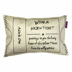 Buy Roald Dahl Charlie and the Chocolate Factory Golden Ticket Cushion from our Cushions range at John Lewis & Partners.