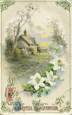 Lovely printable (I think?) vintage Easter card.