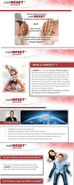 Do you want to Lose weight? Are you tired of trying diets , just to find out that after you're done you get your pounds back plus few more? Cell Reset is a program you need you will lose your weight and inches without starving I warranty it. I did and you will too. 4503872.buypminow.com