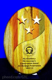 GTC (GTC) on Pheed A unique award made from local woods and Caymanite