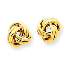 14K Love Knot Post Earrings