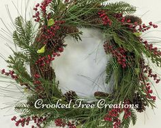 Winter Basket Candy Cane Basket Christmas by CrookedTreeCreation
