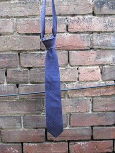 Navy with Red Pindot Tie by HighboyMenswear on Etsy