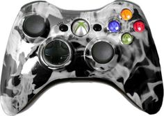 Custom Xbox 360 Controller with White Fire Shell - New Xbox 360 Controller Xbox 360 Video Games, Xbox One Games, Pc Games, Final Fantasy Xbox, Modded Xbox 360, Cheap Xbox One, Arcade Stick, Xbox 360 Controller, Latest Games