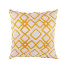 Let your bedroom or living room pillow mix shine bright like a diamond with this geometric print pillow. Soft to the touch and cozy enough to hold close to the chest.  Find the Bright Like a Diamond Pillow with Polyfill, as seen in the On the Bright Side of Danish Modern Collection at http://dotandbo.com/collections/on-the-bright-side-of-danish-modern?utm_source=pinterest&utm_medium=organic&db_sku=SRY0023