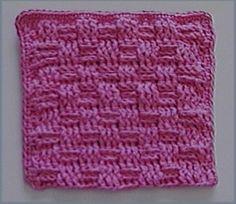 basket weave dish cloth - free instructions