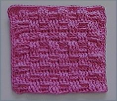 basket weave dish cloth - free instructions
