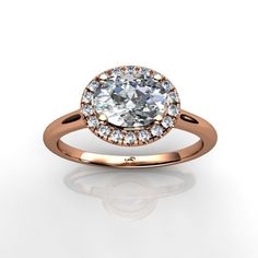 Breaking the mold in more ways than one. The East/West Oval Engagement Ring in Pink Gold. UnionDiamond.com
