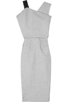 Victoria Beckham asymmetric stitch-spotted crepe dress