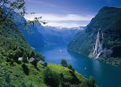 Sognefjord on the western coast of Norway, north of Bergen.