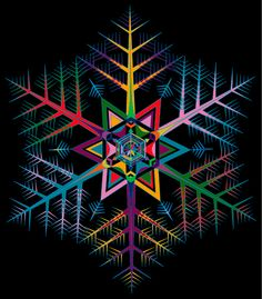 Colored Snowflake on Behance