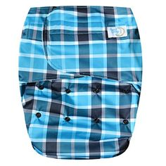 Happy Endings Teen/Adult Hook & Loop Closure Reusable Cloth Diaper Incontinence - Blue Plaid Eco Store, Used Cloth Diapers, Happy Endings, Blue Plaid, Teen, Closure, Eco Products, Clothes, Customer Service