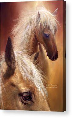 Palomino Acrylic Print featuring the mixed media Golden Palomino by Carol Cavalaris