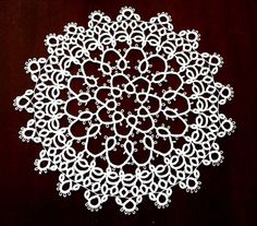 Beautiful Handcrafted Tatted Round Doily