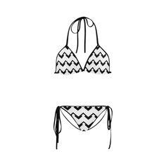 Chevron black and white  1 Custom Bikini Swimsuit  #chevron, #pattern, #zigzag, #blackandwhite, #bikini