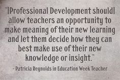 ASCD Faculty member Patricia Reynolds shares #ProfDev best practices on Education Week Teacher.