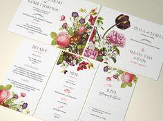PRINTABLE Botanical Wedding Invitation Suite, Printable Digital, Save the Date, Invite, RSVP, Menu & Details cards