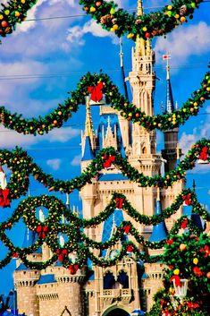 Christmas time at the Magic Kingdom or at Disneyland