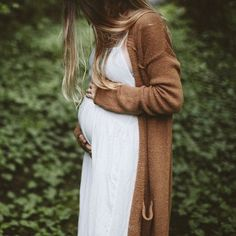Keep your little one and yourself cozy this fall with long cardigans and dresses.