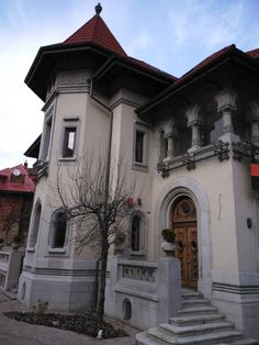 Commercial Architecture, Bucharest, Colonial, My House, Houses, House Design, Mansions, House Styles, Travel