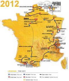 carte tour de France 2012