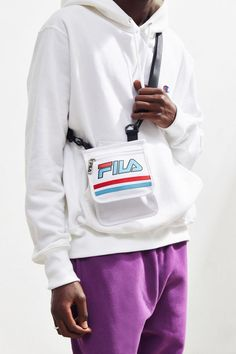 24165f513b74 Slide View  2  FILA UO Exclusive Racing Pouch Messenger Bag Messenger Bag
